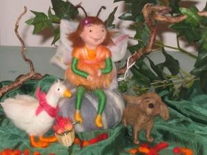 Filzfigur Elfe, Bina Bienchen Kinderbuch, Elfe